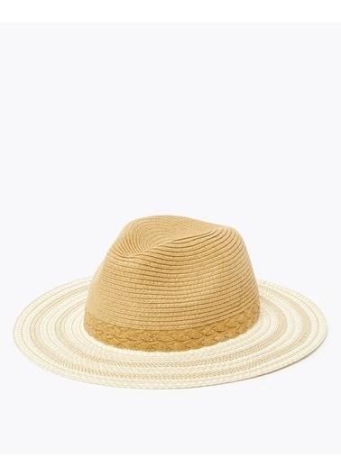 Marks & Spencer Dokulu Fötr Şapka Bej